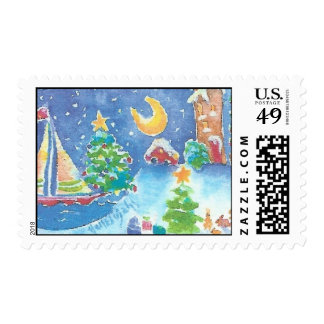 Christmas on the Shore Postage Stamp