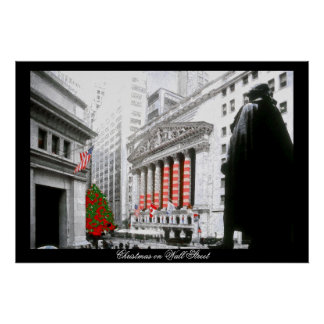 Christmas on Wall Street~poster Poster