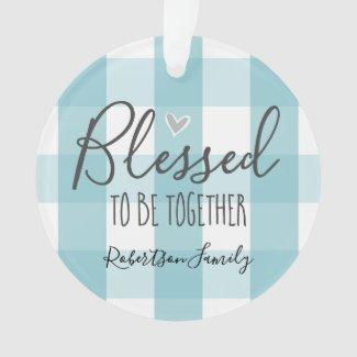 Christmas One Photo Blessed to Be Together Ornament
