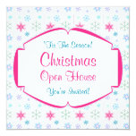 Christmas Open House Colorful Snowflakes Personalized Invitations