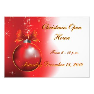 Christmas Open House, From 6 - 12 p.m., F... Custom Announcements