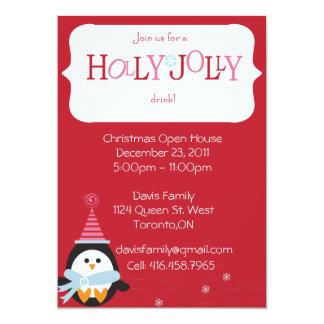 "Christmas Open House Invitation 5"" X 7"" Invitation Card"