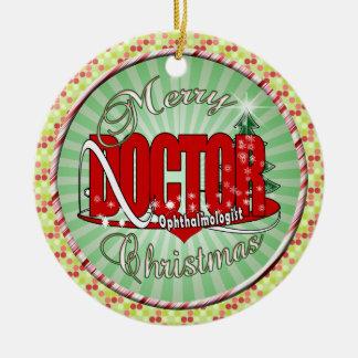 CHRISTMAS Ophthalmologist EYE DOCTOR Ceramic Ornament