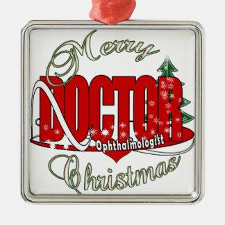 CHRISTMAS Ophthalmologist EYE DOCTOR Metal Ornament