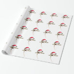 "Christmas opossum wrapping paper<br><div class=""desc"">Unwrap a smile with this christmas opossum wrapping paper! Lovers of wildlife would enjoy seeing their presents under the tree with this design.</div>"