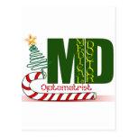 CHRISTMAS OPTOMETRIST - EYE DOCTOR POSTCARD