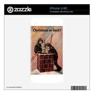 Christmas Or Bust, Boy Chimney Sweep Antique Photo iPhone 4 Skin