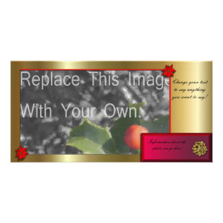 Christmas or Hannukah Holiday Greeting Photo Cards