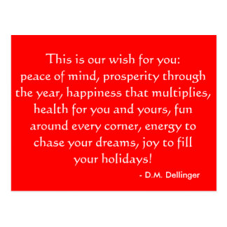 Christmas or Holiday quote postcard