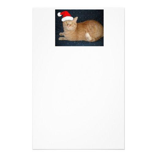 Christmas Orange Tabby Cat Custom Stationery