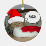 Christmas Orange Tabby Cat Double-Sided Ceramic Round Christmas Ornament
