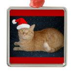 Christmas Orange Tabby Cat Ornaments
