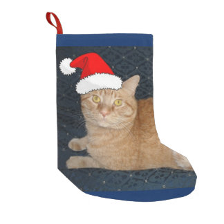 Christmas Orange Tabby Cat Small Christmas Stocking