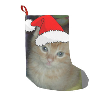 Christmas Orange Tabby Kitten Small Christmas Stocking
