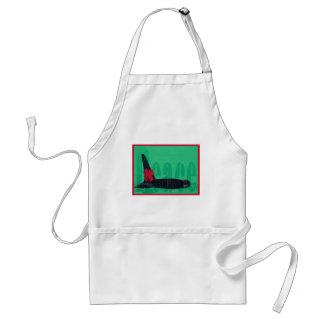 Christmas Orca Red Bow Peace Killer Whale Adult Apron