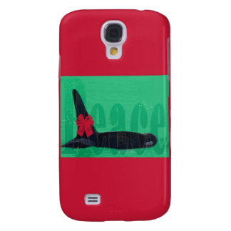 Christmas Orca Red Bow Peace Killer Whale Galaxy S4 Cases