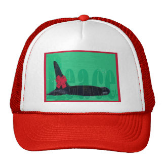Christmas Orca Red Bow Peace Killer Whale Trucker Hats