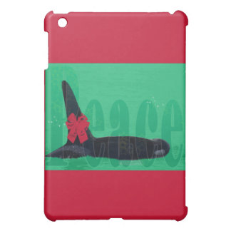 Christmas Orca Red Bow Peace Killer Whale iPad Mini Cases