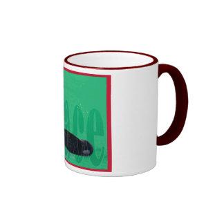 Christmas Orca Red Bow Peace Killer Whale Mug