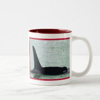 Christmas Orca San Juan Island Merry Christmas Coffee Mugs