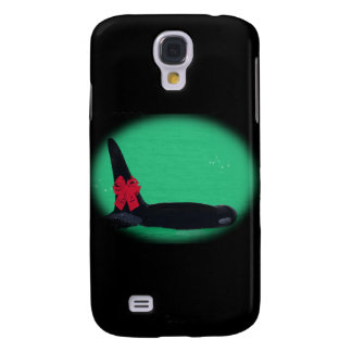 Christmas Orca Whale with Red Bow on Green Backgro Samsung Galaxy S4 Covers