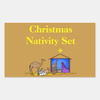 Christmas Organizing Labels - Nativity Set