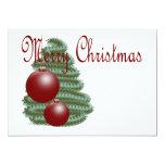 "CHRISTMAS ORNAMENT 5"" X 7"" INVITATION CARD"