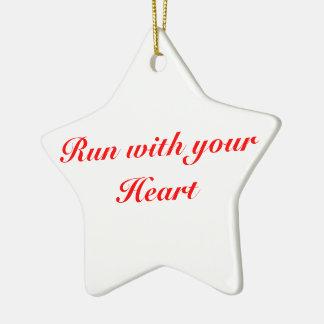 Christmas Ornament 5K for runners, Star