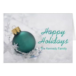 Christmas ornament and garland card