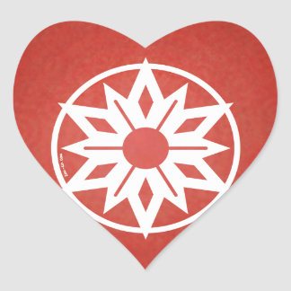 Christmas Ornament Avatar Heart Sticker