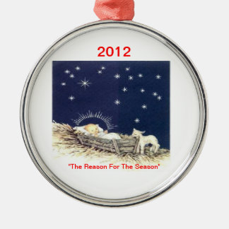 Christmas*Ornament*Baby Jesus*Religious*LyndaH60* Adorno Navideño Redondo De Metal