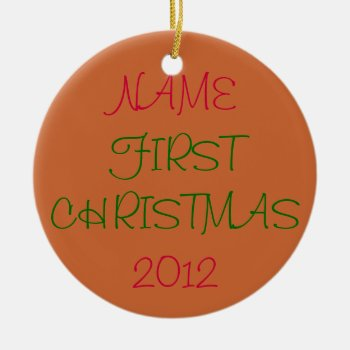 Christmas Ornament  Baby's First Christmas by creativeconceptss at Zazzle