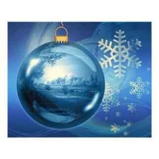 Christmas Ornament Ball Evening Advent Blue Flyer
