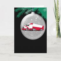 Christmas Ornament Big Rig Card By Gear4gearheads