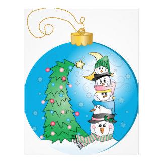 Christmas Ornament/Boules de Noël Customized Letterhead