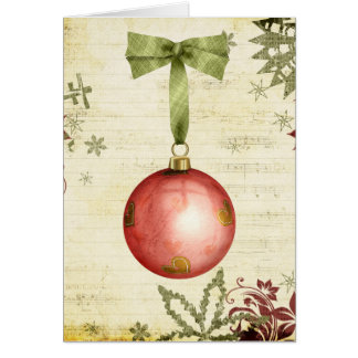 christmas ornament cards