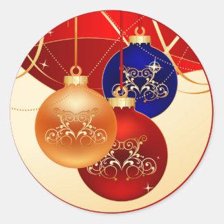 Christmas Ornament Classic Round Sticker