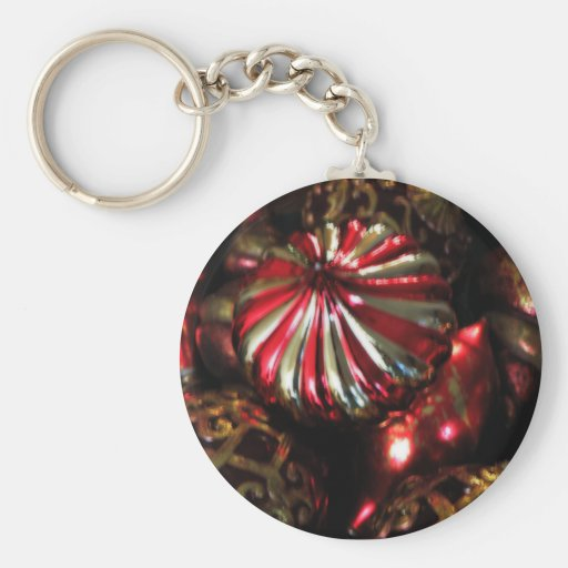 Christmas Ornament Collection Basic Round Button Keychain