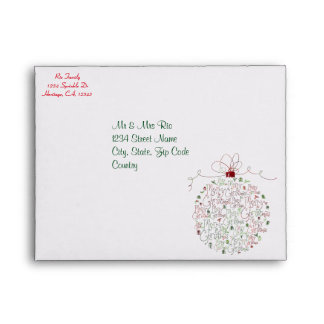 Christmas Ornament Envelopes