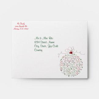 Christmas Ornament Envelopes