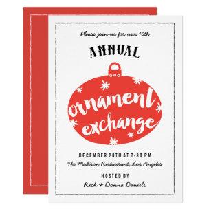 ornament exchange invitations zazzle