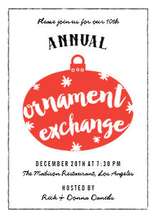 ornament exchange invitations zazzle