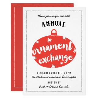 Christmas Ornament Exchange Invitations