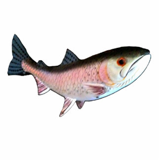 Christmas Ornament Fish Salmon Pink Cut Out
