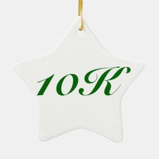 Christmas Ornament for runners, 10K, star shaped
