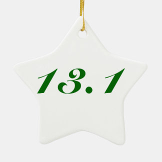 Christmas Ornament for runners, 13.1 star