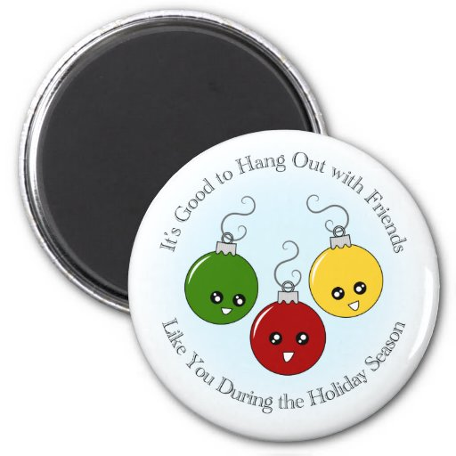 Christmas Ornament Friends 2 Inch Round Magnet