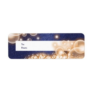 Christmas ornament gift tags blue white label