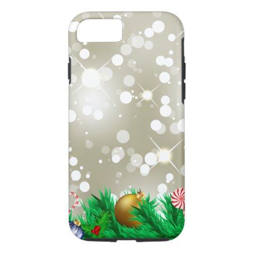 Christmas Ornament Glitter iPhone 87 Case