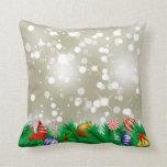 Christmas Ornament Glitter Pillows